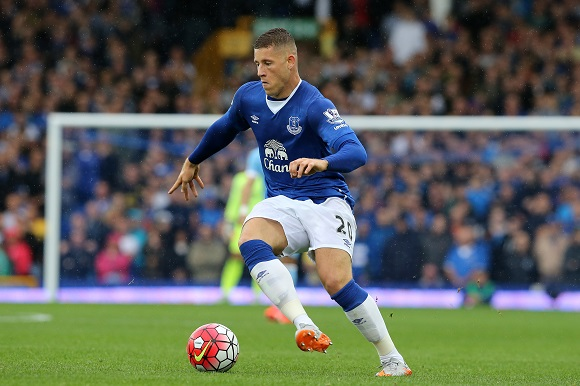 Ross Barkley during the Barclays Premier League match between Everton and Manchester City played at Goodison Park, Liverpool