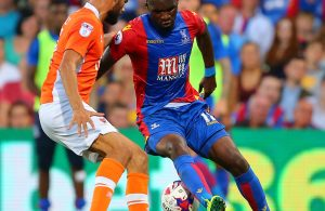 Christian Benteke of Crystal Palace  during the EFL Cup Second Round match between Crystal Palace and Blackpool  played at Selhurst Park , London  on 23rd August 2016