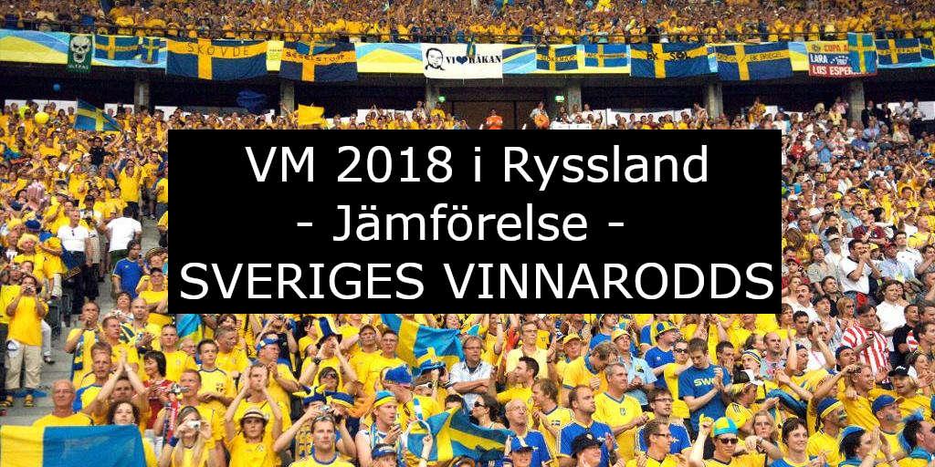 VM odds på Sverige